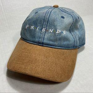 Friends Denim Spell Out Strapback Hat Cap TV Show